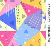 vector seamless pattern in...   Shutterstock .eps vector #1242864823