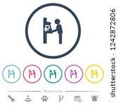 ruble cash machine flat color... | Shutterstock .eps vector #1242872806