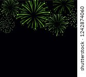 firework sparkle background... | Shutterstock . vector #1242874060