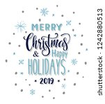 merry christmas and happy... | Shutterstock .eps vector #1242880513