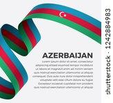 azerbaijan flag  vector... | Shutterstock .eps vector #1242884983