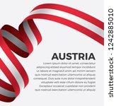 austria flag  vector... | Shutterstock .eps vector #1242885010