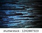 cyberspace data transfer... | Shutterstock . vector #1242887323