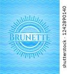 brunette light blue water wave... | Shutterstock .eps vector #1242890140
