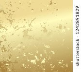 light gold background with... | Shutterstock .eps vector #1242891829