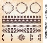 collection of islamic pattern... | Shutterstock . vector #124289248