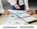 business people meeting... | Shutterstock . vector #1242902983