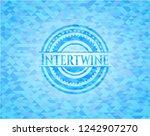 intertwine light blue emblem... | Shutterstock .eps vector #1242907270