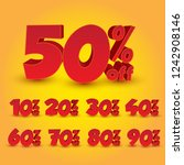set of 3d promotional discount  ... | Shutterstock .eps vector #1242908146