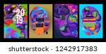 2019 new abstract poster... | Shutterstock .eps vector #1242917383