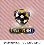 gold emblem with football ball ... | Shutterstock .eps vector #1242924340
