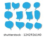 vector bubbles speech set. hand ... | Shutterstock .eps vector #1242926140