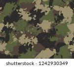 seamless paint splattered... | Shutterstock .eps vector #1242930349