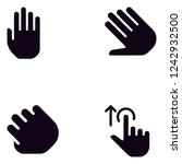 touch hand gestures detailed... | Shutterstock .eps vector #1242932500