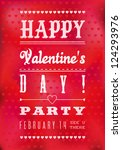 colorful happy valentine's day... | Shutterstock . vector #124293976