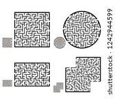 set of labyrinths  mazes... | Shutterstock .eps vector #1242944599