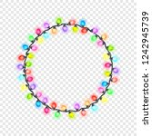 circular festive colored... | Shutterstock .eps vector #1242945739