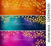 set of colorful festive banners ... | Shutterstock .eps vector #1242946150