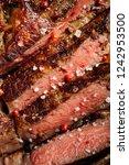 juicy beef rump steak from... | Shutterstock . vector #1242953500