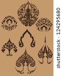 set  thai art symbols   Shutterstock .eps vector #124295680
