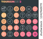 inline tourism icons collection ... | Shutterstock .eps vector #1242960070