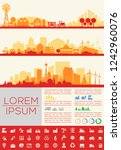 city skyline infographic and... | Shutterstock .eps vector #1242960076