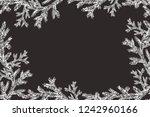 vector christmas frame with... | Shutterstock .eps vector #1242960166