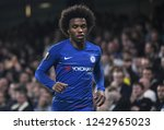 Small photo of LONDON, ENGLAND - OCTOBER 4, 2018: Willian Borges da Silva pictured during the 2018/19 UEFA Europa League Group L game between Chelsea FC and MOL Vidi FC at Stamford Bridge.