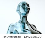 black and blue glass female... | Shutterstock . vector #1242965170