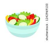 bright vector illustration of... | Shutterstock .eps vector #1242969133