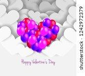 heart shaped balloons for... | Shutterstock .eps vector #1242972379