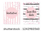 bridal shower set with dots and ... | Shutterstock .eps vector #1242983560