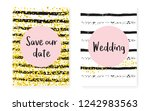 bridal shower card with dots... | Shutterstock .eps vector #1242983563