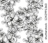 flower print in bright colors....   Shutterstock .eps vector #1242991363