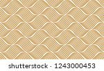 the geometric pattern with wavy ... | Shutterstock .eps vector #1243000453