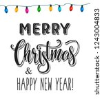 merry christmas and happy new... | Shutterstock .eps vector #1243004833
