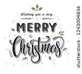 merry christmas  text ... | Shutterstock .eps vector #1243004836