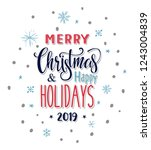 merry christmas and happy...   Shutterstock .eps vector #1243004839