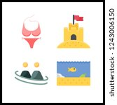4 swimming icon. vector... | Shutterstock .eps vector #1243006150