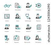 medicine and health symbols | Shutterstock .eps vector #1243006390