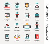 law   justice icon set | Shutterstock .eps vector #1243006393
