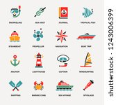 set of icons sea | Shutterstock .eps vector #1243006399