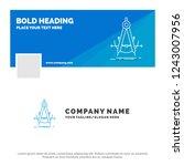 blue business logo template for ... | Shutterstock .eps vector #1243007956