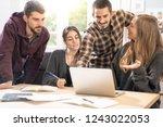 happy young university students ... | Shutterstock . vector #1243022053