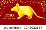 happy chinese new year 2020.... | Shutterstock .eps vector #1243022689
