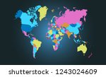 color world map vector | Shutterstock .eps vector #1243024609
