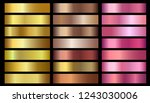 gold  bronze  rose gold... | Shutterstock .eps vector #1243030006