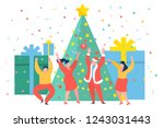 funny mini business people... | Shutterstock .eps vector #1243031443