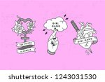 heart with knife  lady symbol...   Shutterstock .eps vector #1243031530