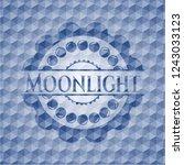 moonlight blue emblem with... | Shutterstock .eps vector #1243033123